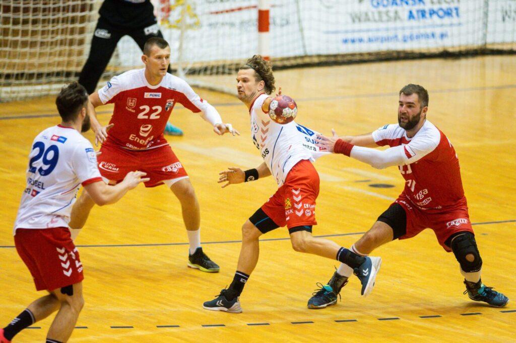 na fot. Mateusz Kus, Marek Szpera (Energa MKS Kalisz) Jacek Sulej, Mateusz Wróbel (TORUS Wybrzeże Gdańsk)