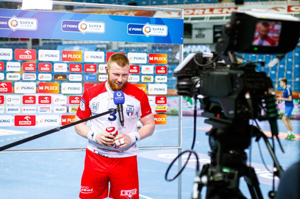 Piotr Krępa (Energa MKS Kalisz) w wypowiedzi dla TVP Sport po wyjazdowym meczu z Orlen Wisłą Płock / www.pgnig-superliga.pl